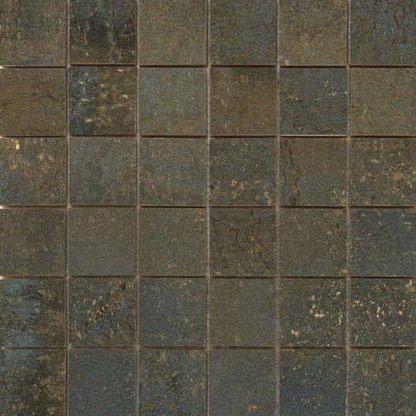 Metal Rust Rect Porcelain Mosaic