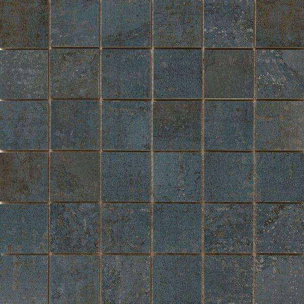 Metal Iron Rect Porcelain Mosaic