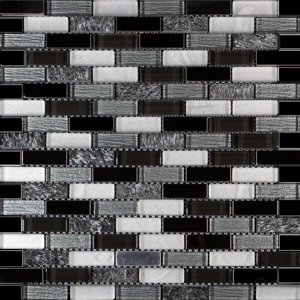 Mountain Grampian Grey Glass Mosaic 300x300