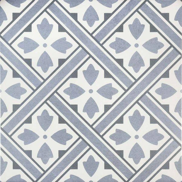 Mr Jones Azure Blue Pattern Wall and Floor Tile