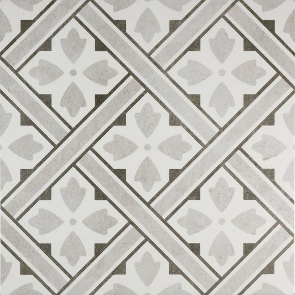 Mr Jones Grey Pattern Wall and Floor Tile