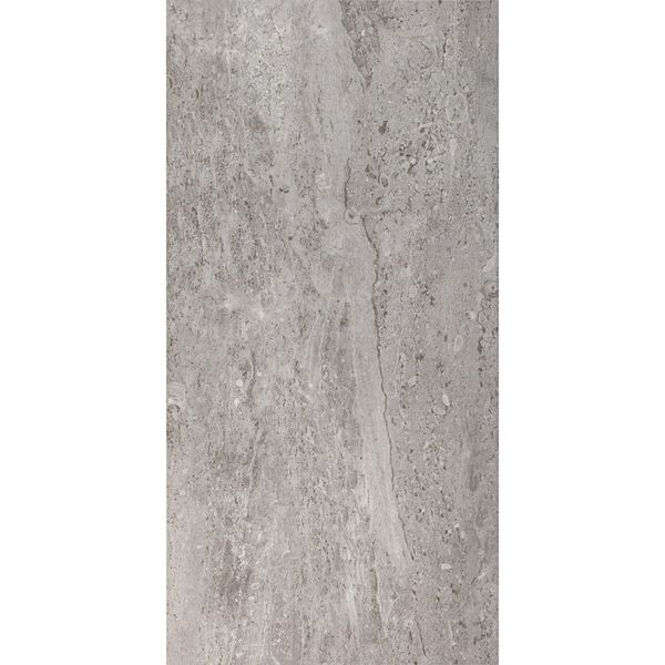 Naples Gloss Travertine Effect Dark Grey Wall Tile
