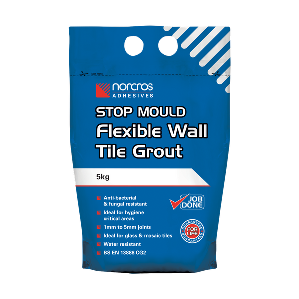 Norcros Stop Mould Arctic White Wall Tile Grout
