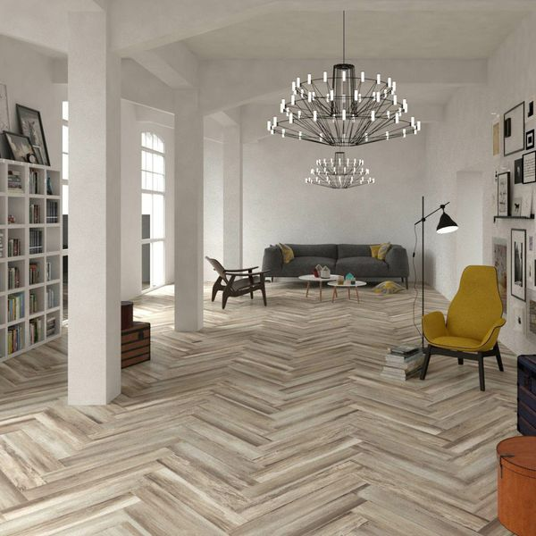 Paintwash Almond Wood Effect Wall And Floor Tiles