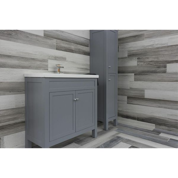 Paintwash Grey Wood Effect Wall And Floor Tiles
