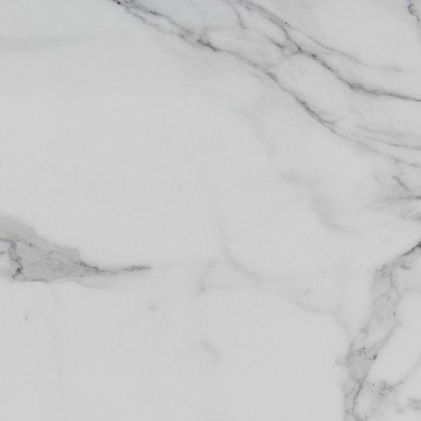 Carrara White Gloss Marble Effect  Ceramic Floor Tile