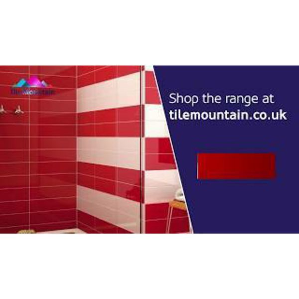 Linear Red Gloss Wall Tiles