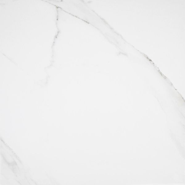 Place White Polished Marble Effect Floor Tile