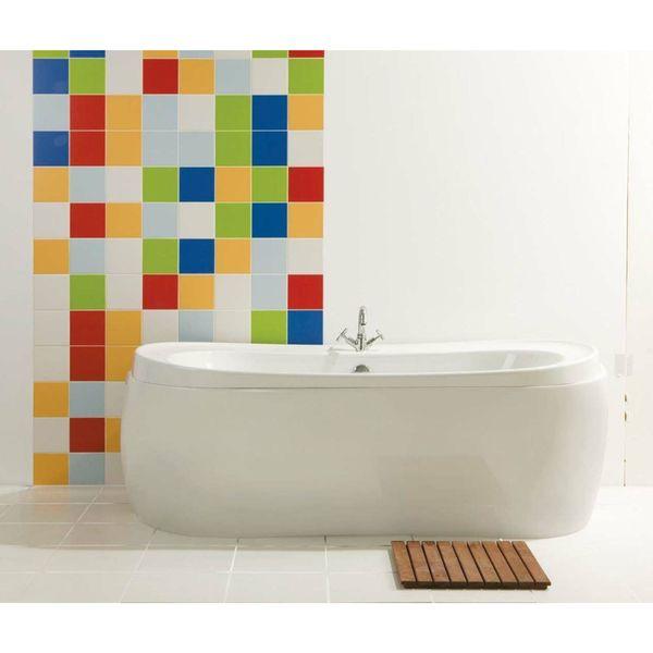 Prismatics White Satin Wall Tiles