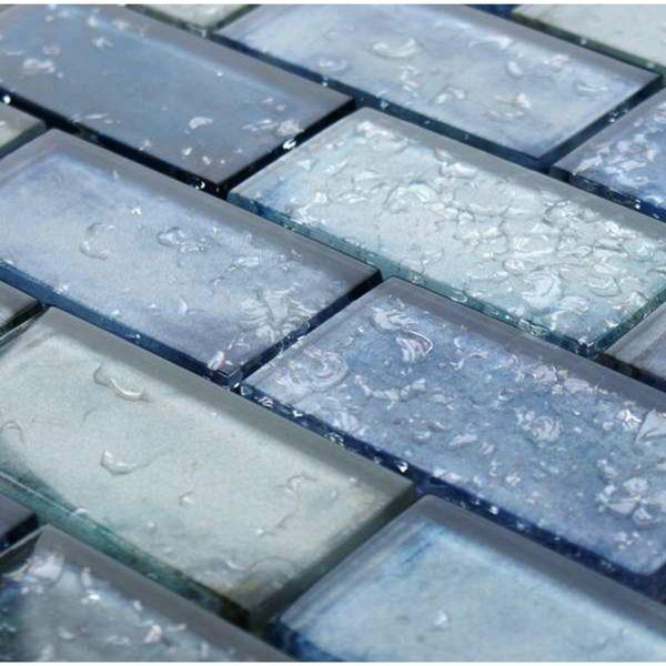 Raindrop Blue Glass Mosaic 300x300
