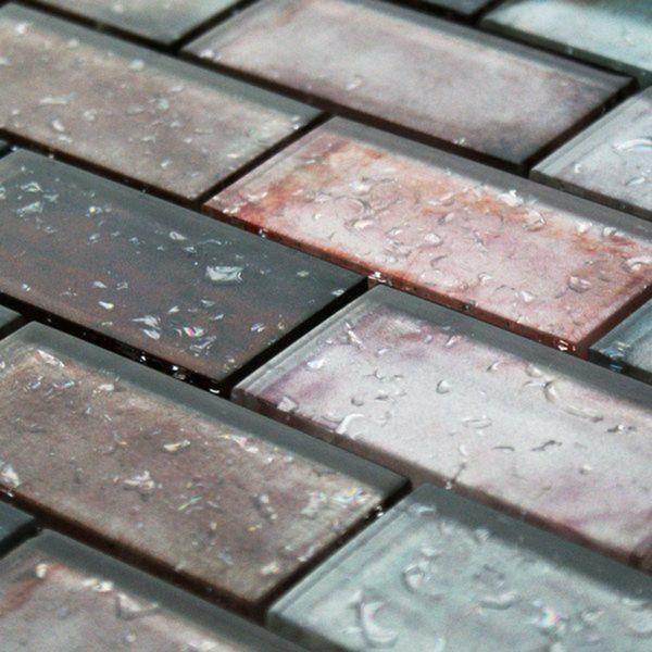 Raindrop Red Glass Mosaic 300x300