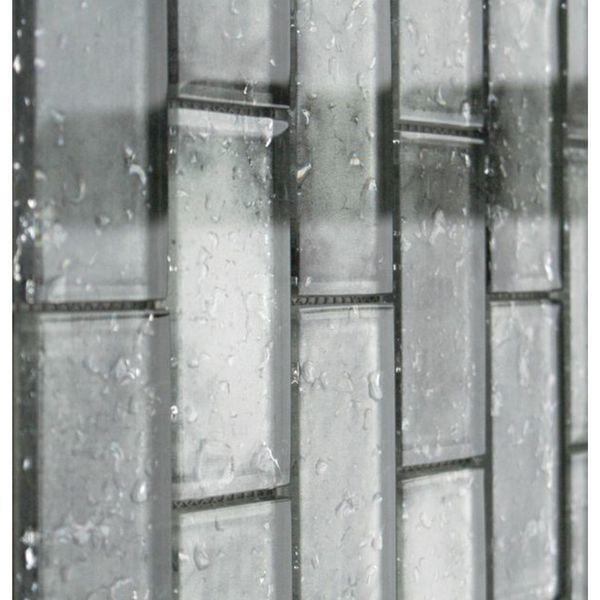Raindrop Grey Glass Mosaic 300x300