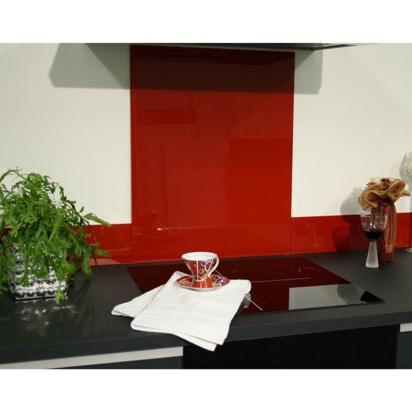 Red Glass Upstand 2pcsx1000mmx140mm