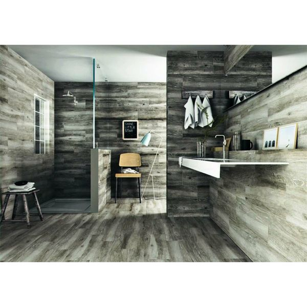 Sandalo Grey Natural Wood Effect Floor Tiles