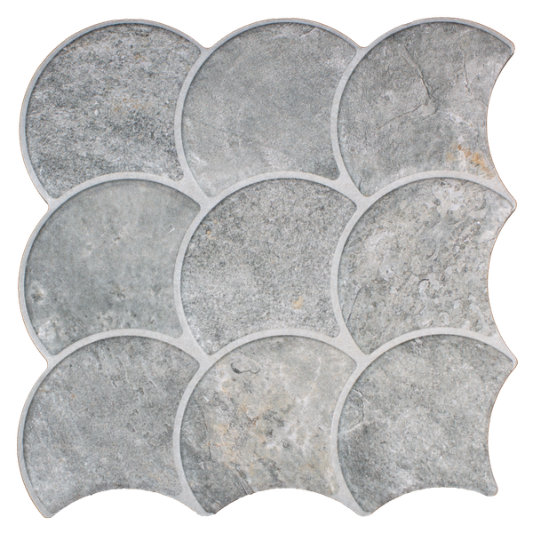Scale Slate Grey Wall and Floor Tiles