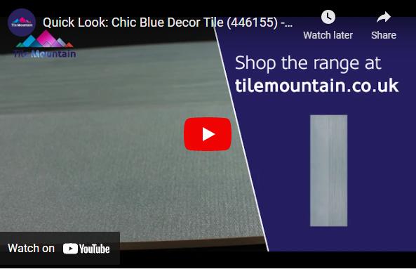Chic Blue Decor Wall Tiles