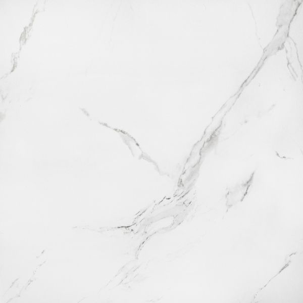 Naos White Marble Effect Polished Floor Tile