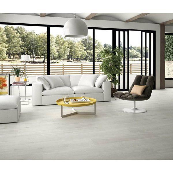 Graziella Ice Grey Oak Wood Effect Porcelain Floor Tile