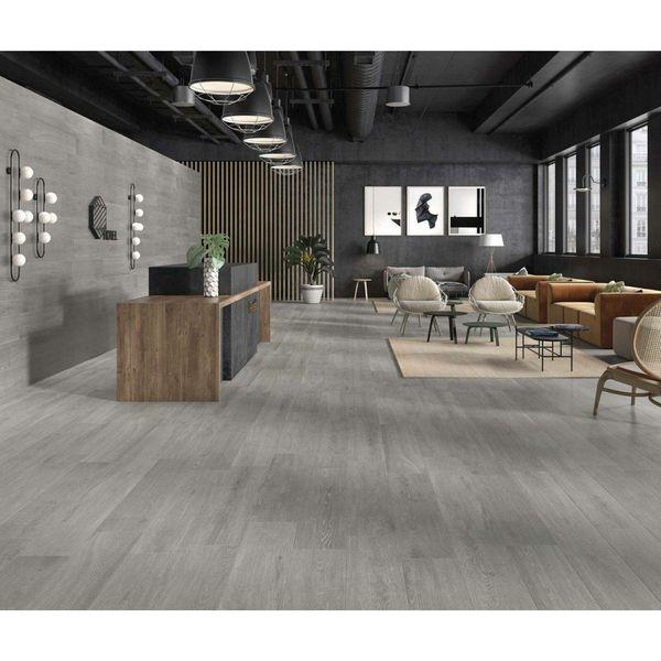 Tacora Grey Wood Effect Porcelain Wall & Floor Tile
