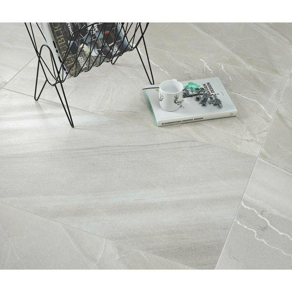 Burlingstone Grey Mixed Stone Effect Porcelain Wall & Floor Tile