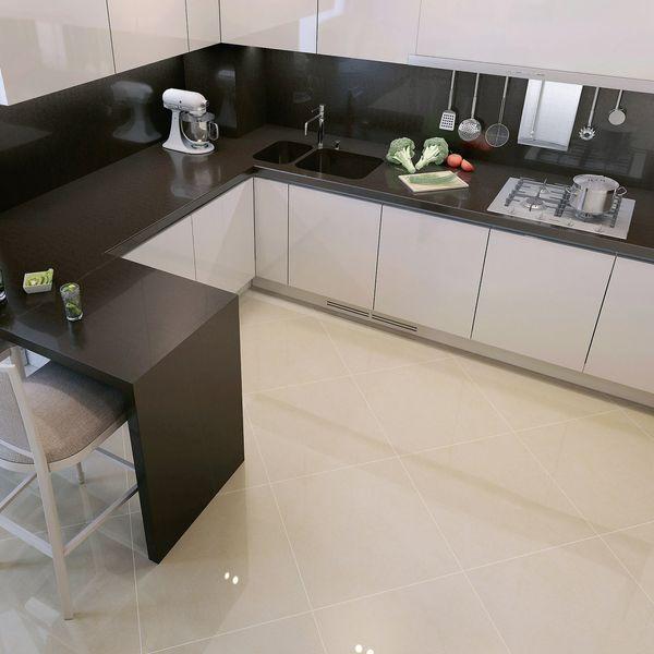 Super White Polished Porcelain Floor Tile