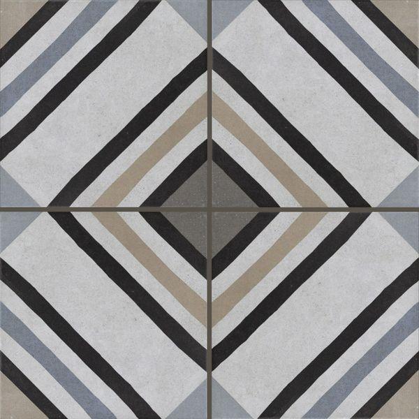 Swing Decor Blue Stripe Wall and Floor Tiles