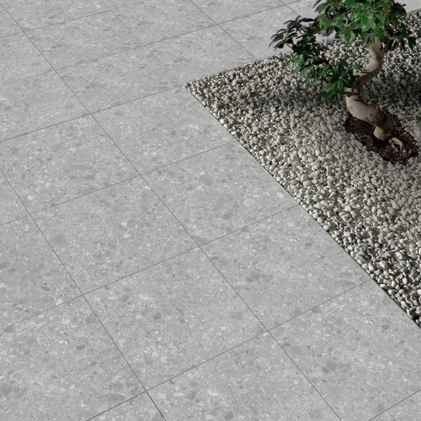 Terrazzo Grey Outdoor Porcelain Slab Tiles