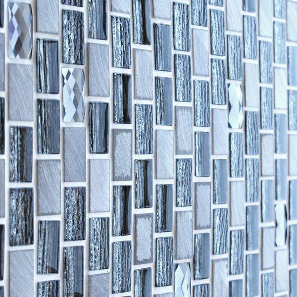 Grace Grey Glass Mosaic 288x306