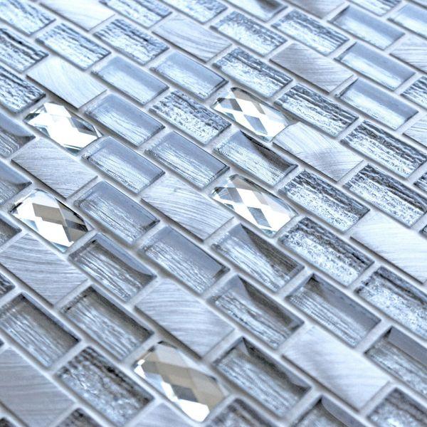 Grace Silver Glass Mosaic 288x306