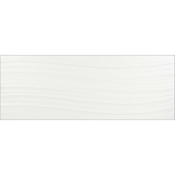 Tones Wave White Wall Tiles