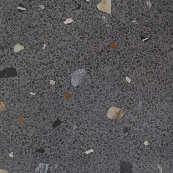 Trend Black Terrazo Multicolour Wall and Floor Tile