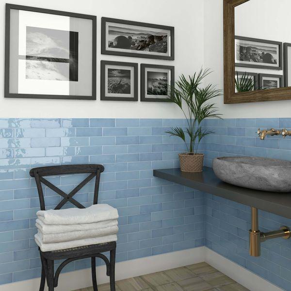 Village Azure Blue Wall Tiles
