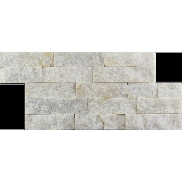 White Marble Split Face Mosaic