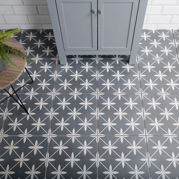 Wicker Grey Pattern Wall and Floor Tile
