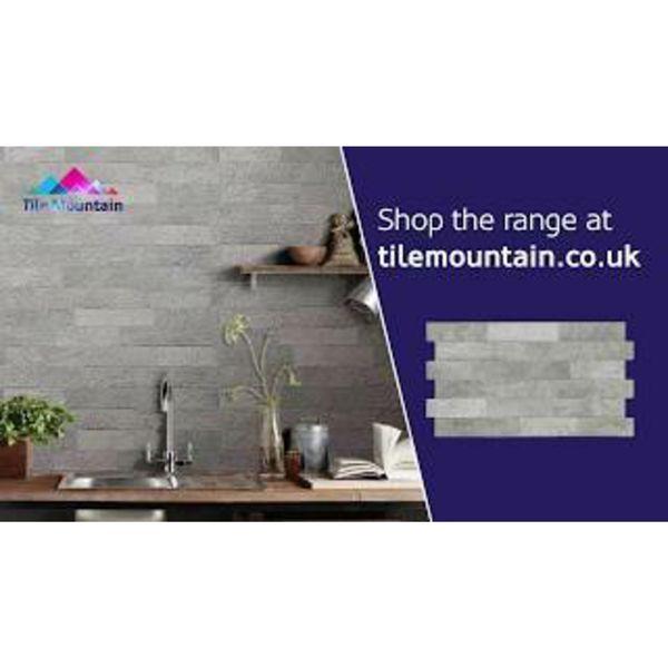Ribera Grey Slate Effect Wall Tiles